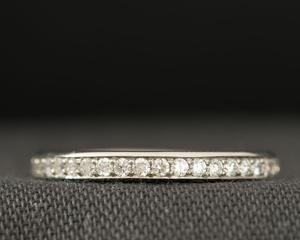 Diamond and Platinum Eternity Ring Three-Quarter Set