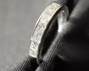Princess Cut Diamond and Platinum Eternity Ring