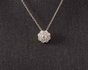 Diamond 18ct White Gold Daisy Cluster