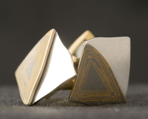 18ct Yellow & White Gold Cufflinks