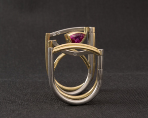Ruby & Diamond Hinged Dress Ring
