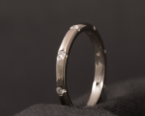 Diamond and White Gold Eternity Ring