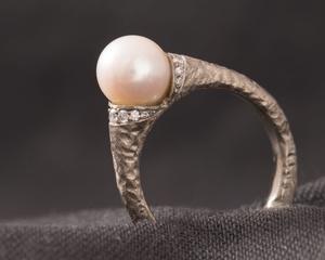Akoya Pearl & Diamond Dress Ring