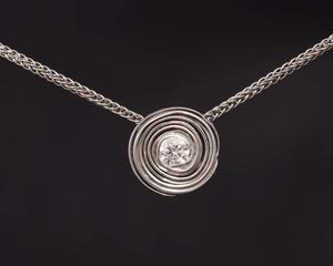 Diamond Spiral Pendant