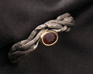 Ruby & Palladium Dress Ring