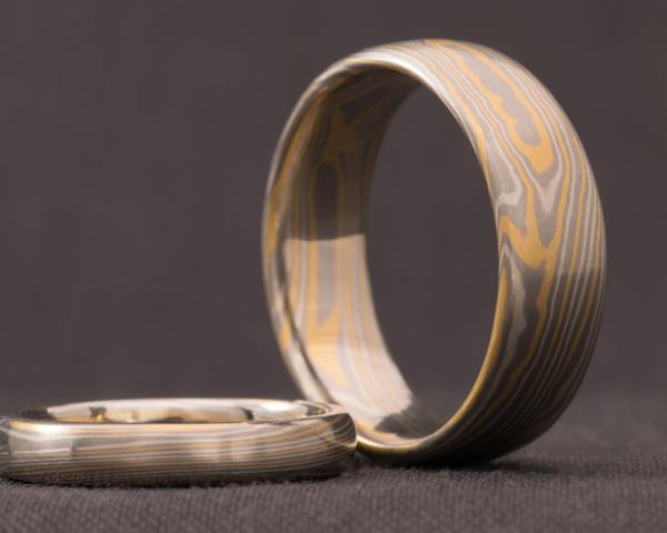 Mokume Gane Wedding Rings Ortwin Thyssen Master Jewellery Makers