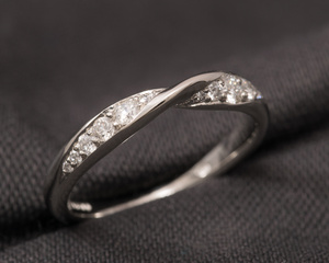 Diamond and Platinum Twisted Eternity Ring