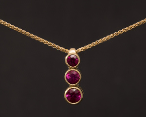Ruby and Gold Linked Pendant