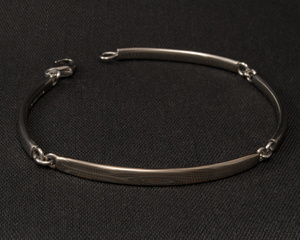 Mokume Gane & Palladium Four Section Bracelet