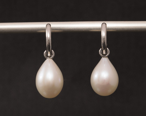 Freshwater Pearl 18ct White Gold Exchangeable Earrings