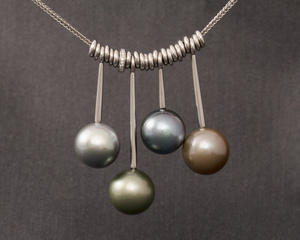 Pendulum Tahitian Pearls & Diamond Necklace