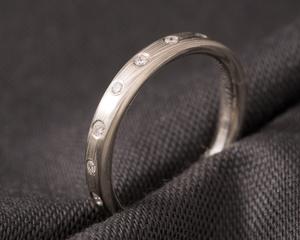 Mokume Gane & Diamond Eternity Ring