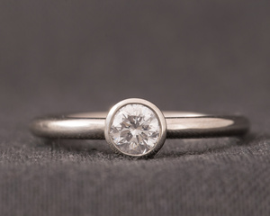 Diamond Palladium & Platinum Dress Ring