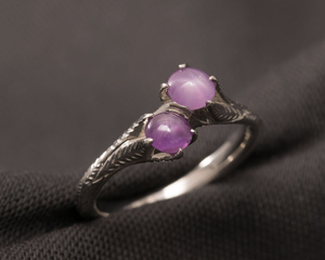 Star Ruby & Star Sapphire Platinum Crossover Dress Ring