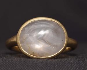 Star Sapphire & Fairtrade Gold Ring