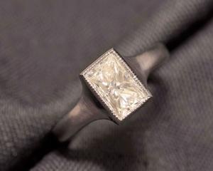 Princess Cut Diamond & Platinum Ring
